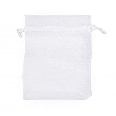 Bolsa Organza Decorativa Blanco 12 x 9