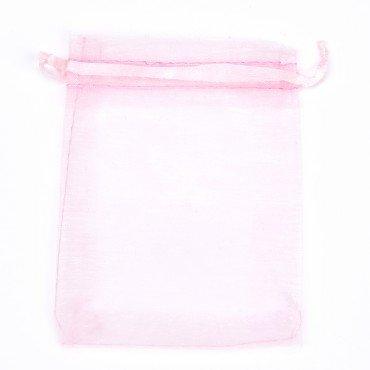 Bolsas Baratas de Organza Rosa Claro 17x12
