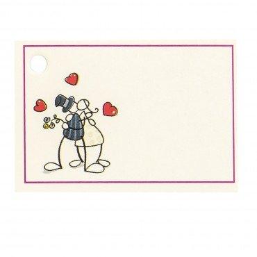 Tarjeta para boda novios abrazados