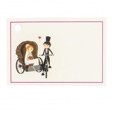 Tarjeta personalizadas para regalos boda novios carruaje