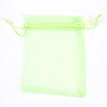 Bolsa de Organza Verde 12 x 9