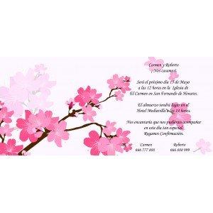 Invitaciones flores