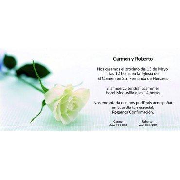 Invitaciones Boda Flor