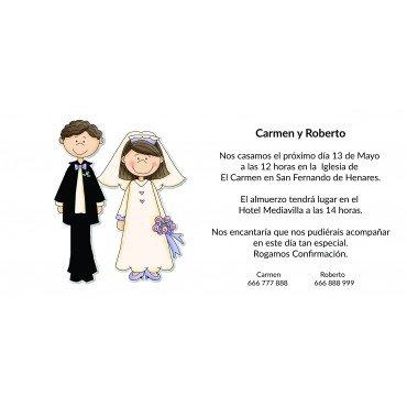 Invitaciones Boda Novios Recien Casados