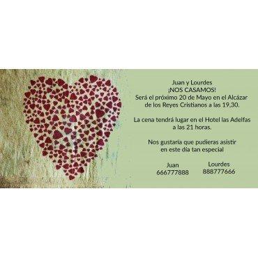 Invitacion de Boda Corazon