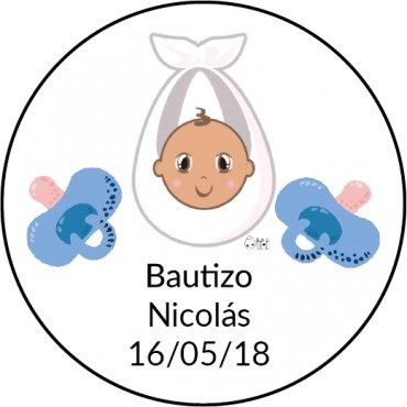 Pegatina Redonda Bautizo (20)