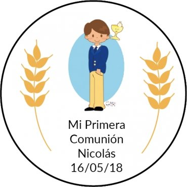 Pegatinas para Comunion Niño (20)